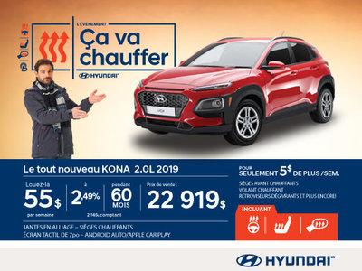 L'événement ÇA VA CHAUFFER chez Hyundai avec le Kona 2019