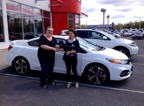 I loved the service with Honda, especially with Tammy Aubie, she's very nice!