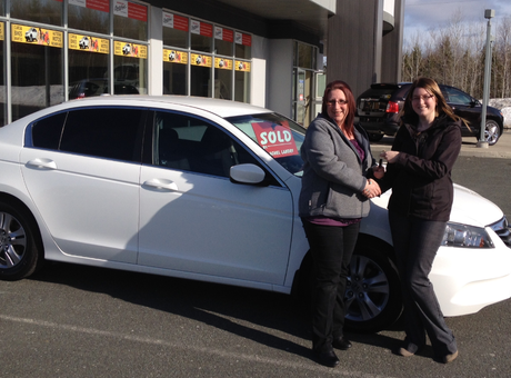 Great saleswoman to convert a Chevrolet girl, what a salesperson! Michèle Thériault
