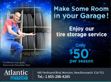 Take Advantage of Our Tire Storage System!