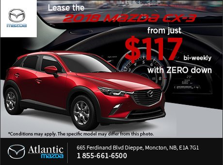Lease the 2018 Mazda CX-3