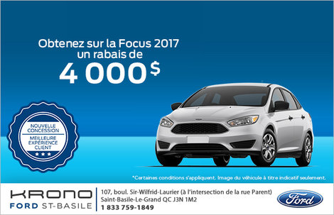 Économisez sur la Ford Focus!