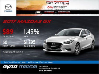The 2017 Mazda3 GX: Get it Today!