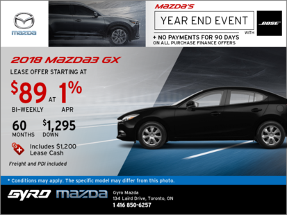 The 2018 Mazda3 GX: Get it Today!