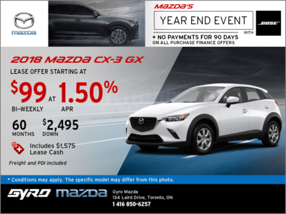 Get the 2018 Mazda CX-3 GX Now!