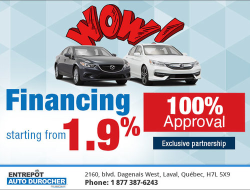 Entrepot Auto Durocher >> Financing Starting From 1 9 Entrepot Auto Durocher Promotion In Laval