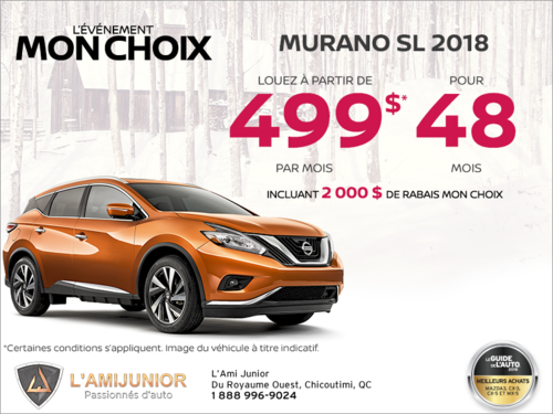 Louez le Nissan Murano 2018 dès aujourd'hui!