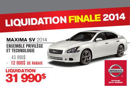 Nissan Maxima  en liquidation de 12 000$