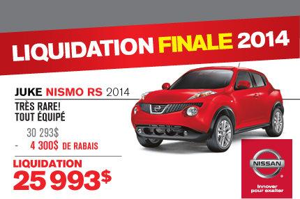 Nissan Juke 2014 : en liquidation de 4300$