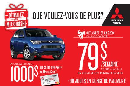 Mitsubishi Outlander 2014: à seulement 79$ par semaine