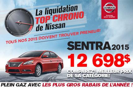 Cette semaine c'est la Liquidation TOP CHRONO chez NISSAN DE SHERBROOKE - sentra