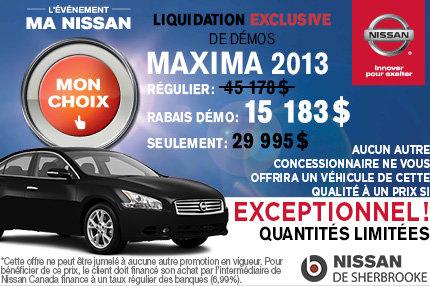Nissan Maxima 2013 DÉMO à vous pour 29 995$