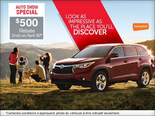 Save on Toyota Vehicles During the Ottawa Auto Show