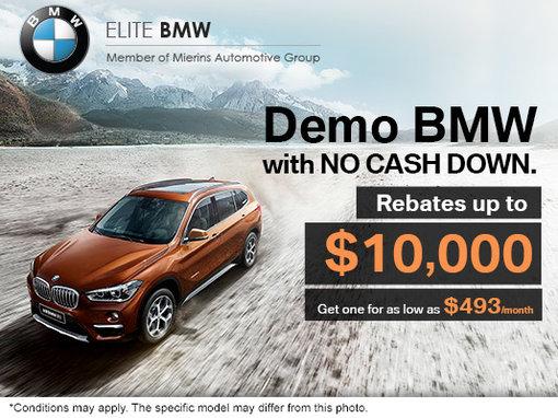 Demo BMW with no cash down!