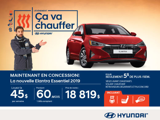 L'événement ÇA VA CHAUFFER chez Hyundai avec l'Elantra 2019