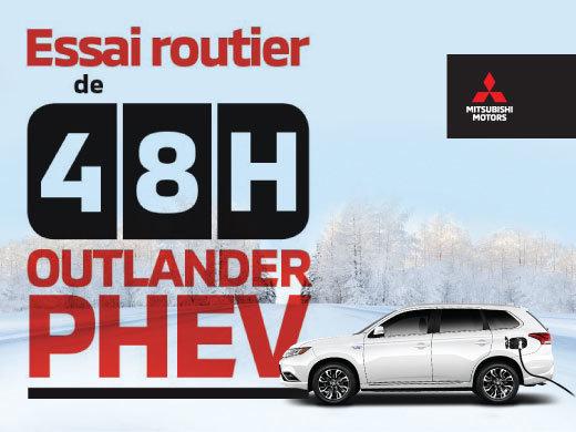 Essai routier de 48hrs - Outlander PHEV neuf!