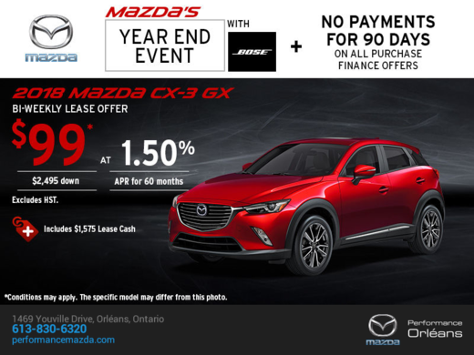 Get the 2018 Mazda CX-3 Now!