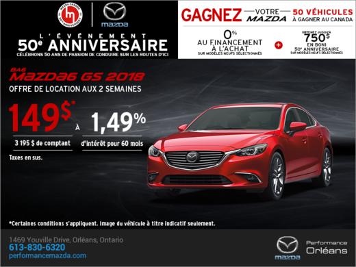 Procurez-vous le Mazda6 2018 aujourd'hui! chez Performance Mazda à Ottawa