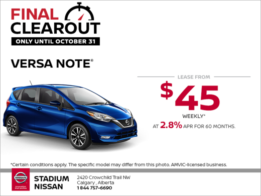 Get the 2018 Nissan Versa Note