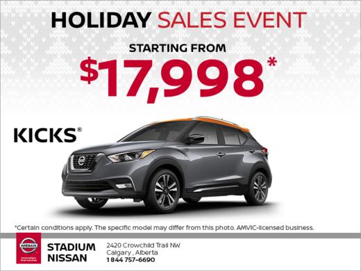 Get the 2018 Nissan Kicks Today!