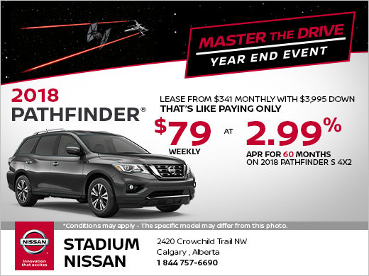 Save on the 2018 Nissan Pathfinder!