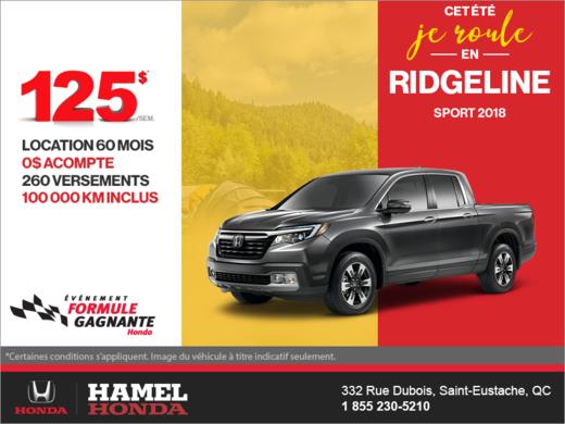 Louez le Honda Ridgeline 2018!