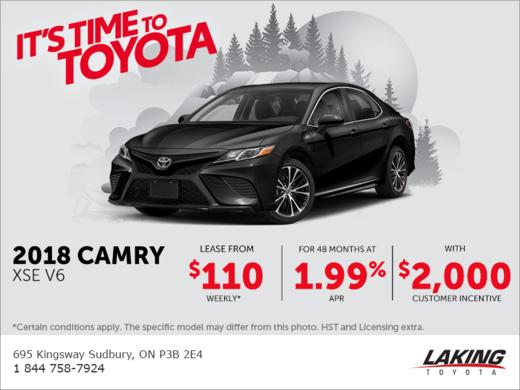 2018 Toyota Camry Laking Toyota Promotion In Sudbury