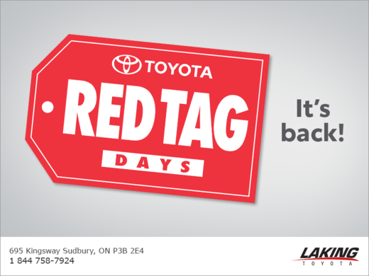 Toyota Red Tag Days!