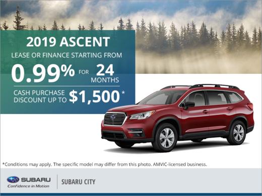 Get the 2019 Subaru Ascent Today!