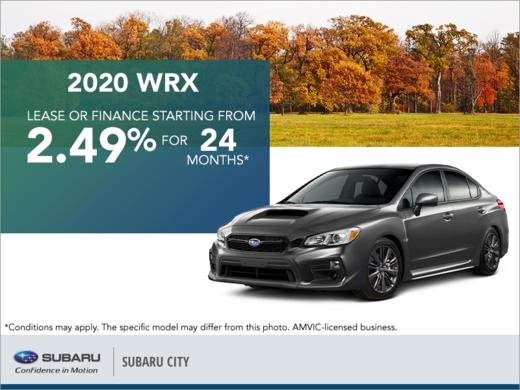 Get the 2020 Subaru WRX Today!