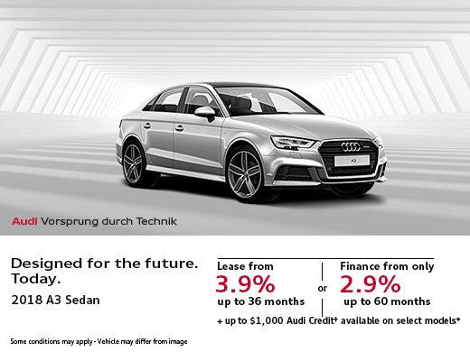 Save Big on the 2018 Audi A3 Sedan