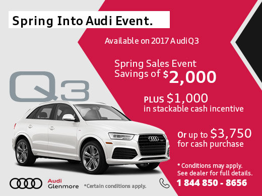 This Month, Save Big on the 2017 Audi Q3