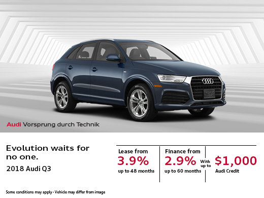 This Month, Save Big on the 2018 Audi Q3