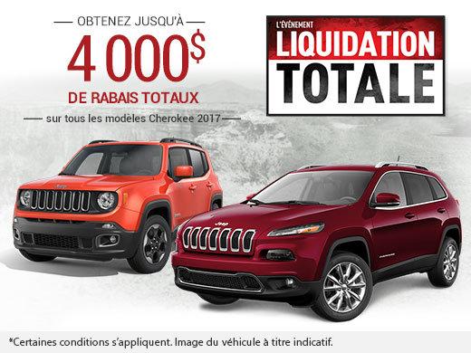 L'événement Liquidation Totale Jeep