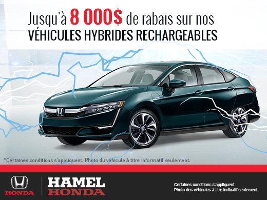 Rabais sur nos véhicules hybrides rechargeables