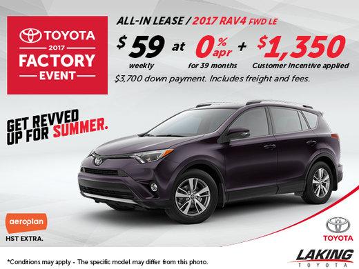 Save Big on the All-New 2017 Toyota RAV4