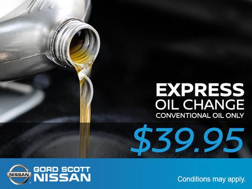 $39.95 Express Oil Change!