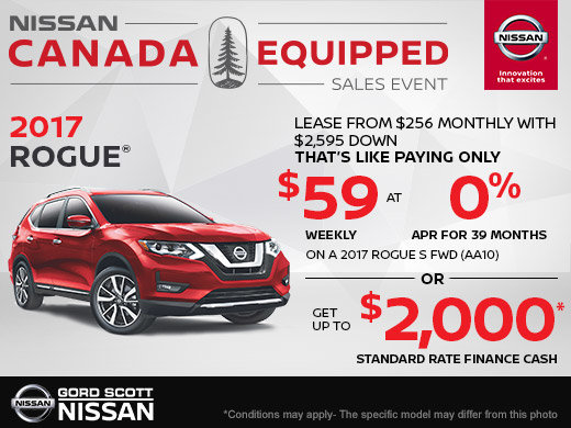 Get the 2017 Nissan Rogue Today!