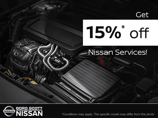Get 15% Off Nissan Services!