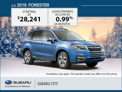 Save Big on the 2018 Subaru Forester
