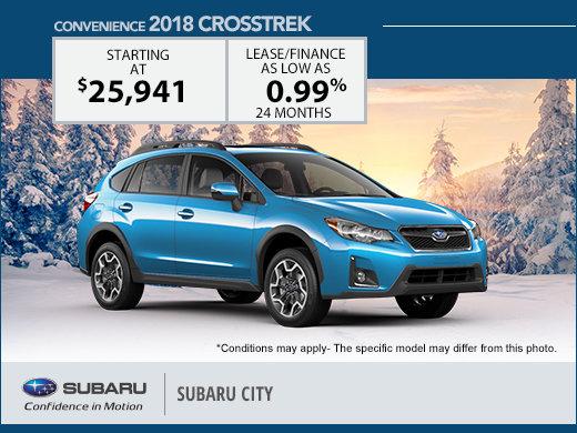 Save Big on the 2018 Subaru Crosstrek!