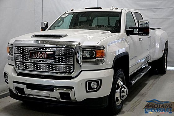 New 2018 Gmc Sierra 3500hd Denali Crew Cab White Frost