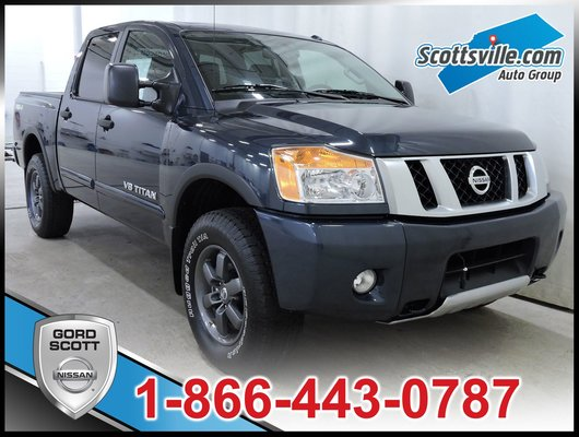 new 2015 nissan titan pro 4x leather package for sale in red deer gord scott nissan in red. Black Bedroom Furniture Sets. Home Design Ideas