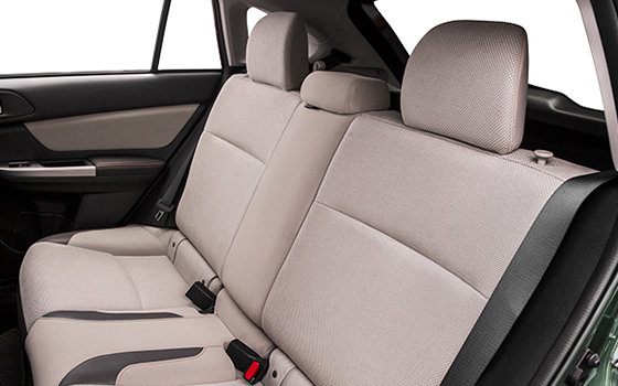 Leather seating surfaces with orange stitching
