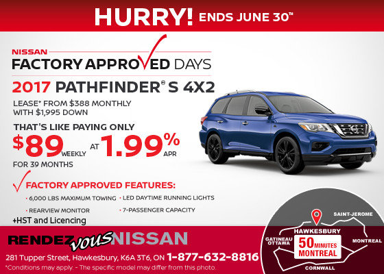 Lease the 2017 Nissan Pathfinder Now!