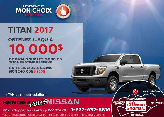 Nissan Titan 2017 en rabais