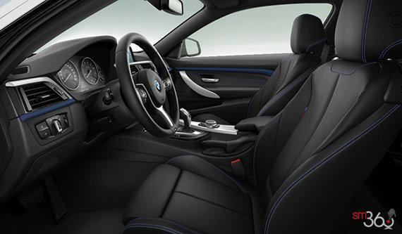 Black Dakota Leather w Blue Contrast Stiching