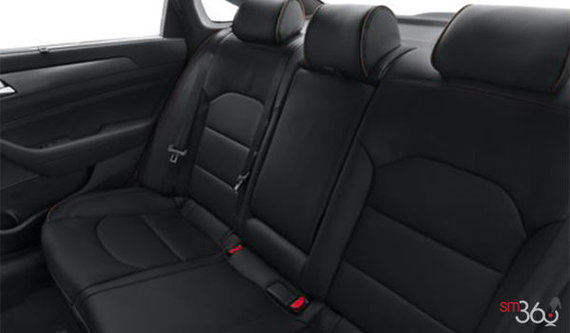 Black Leather with Black Piping