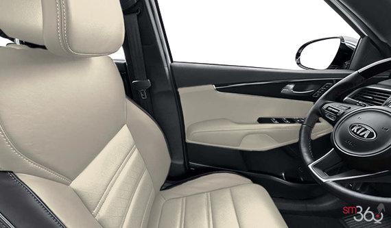 White Two-Tone Premium Nappa Leather
