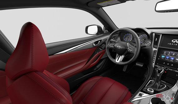 Monaco Red Semi-Aniline Leather with Silver Optic Fiber Trim